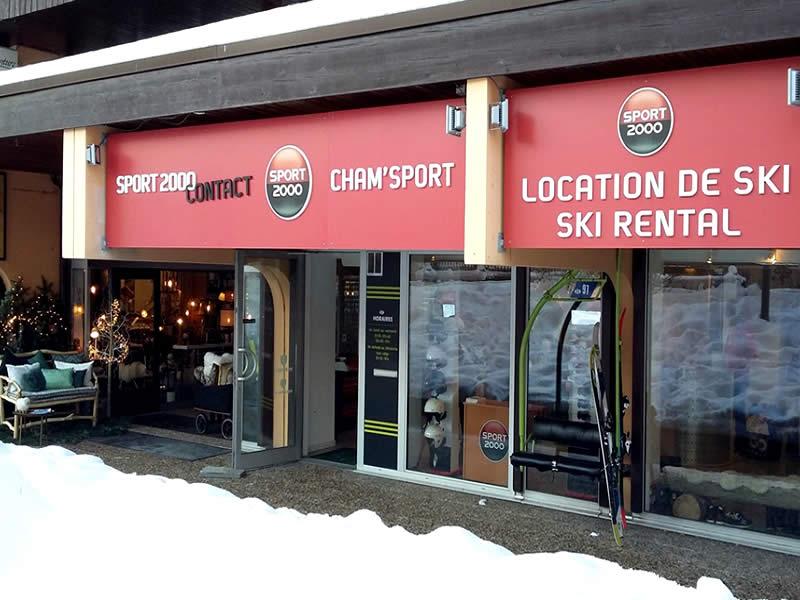 Magasin de location de ski CHAM SPORT MUMMERY LE PARADIS à 28, Impasse des Primevères - Club Med, Chamonix
