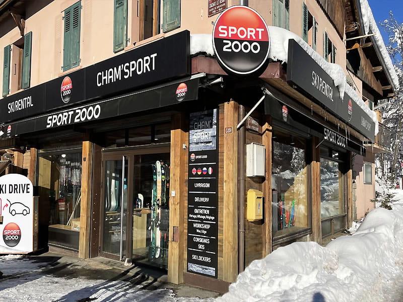Magasin de location de ski CHAM SPORT MONTENVERS à 319, rue Cachat le Géant, Chamonix