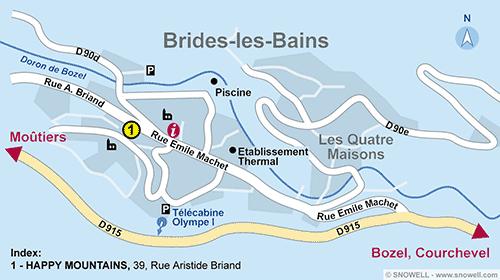 Plan Brides les Bains