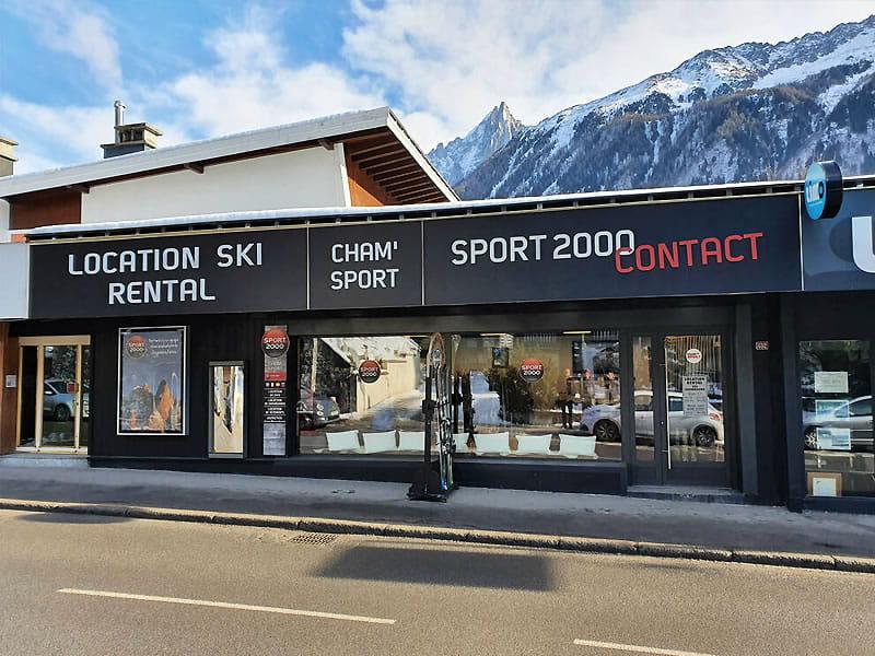 Magasin de location de ski CHAM SPORT NORD SAVOY, 432, Rue Joseph Vallot à Chamonix