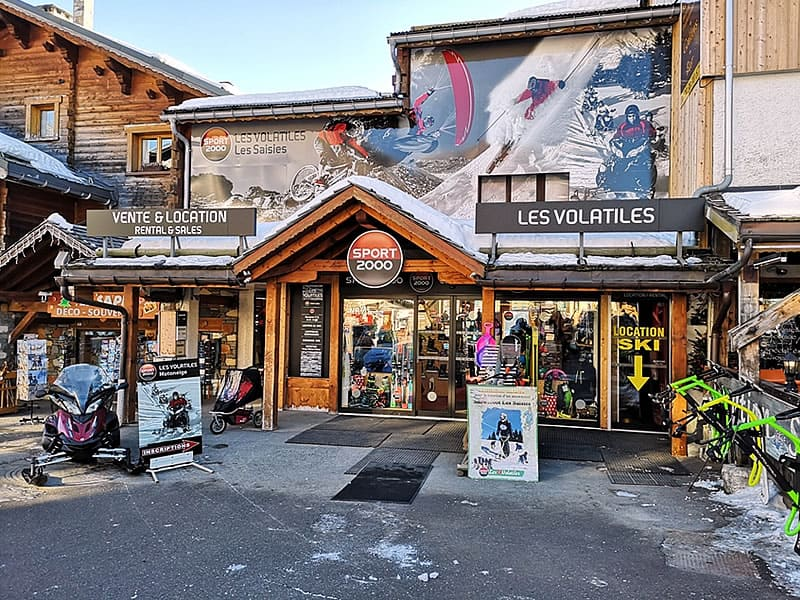 Magasin de location de ski LES VOLATILES à Avenue des J.O., Les Saisies