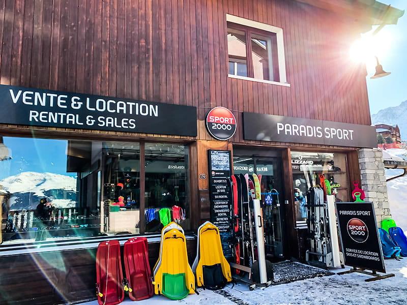 Magasin de location de ski PARADIS SPORT, Centre Commercial de Vallandry à Peisey Vallandry