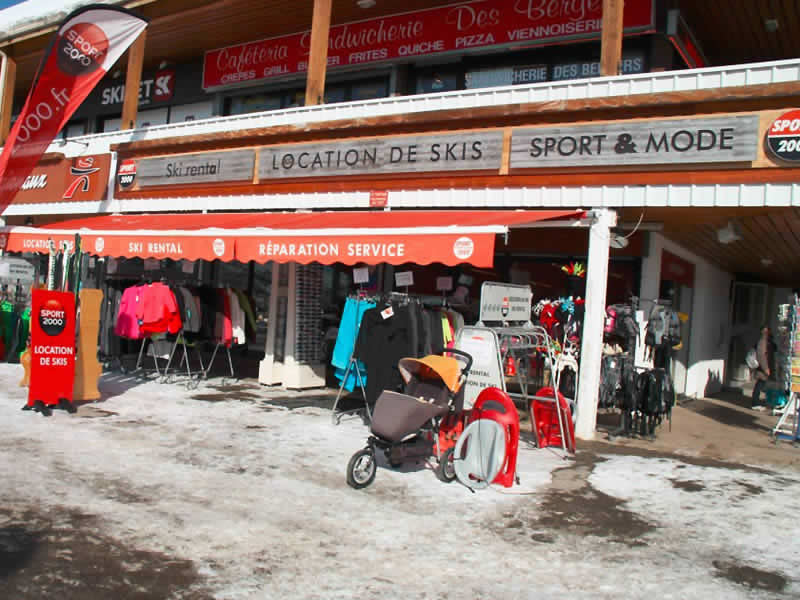 Magasin de location de ski OLIVIER SPORTS, Centre commercial des Bergers à Alpe d'Huez