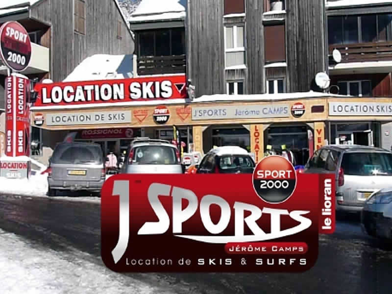 Magasin de location de ski J'SPORTS à Centre Commercial Font d'Alagnon, Super Lioran