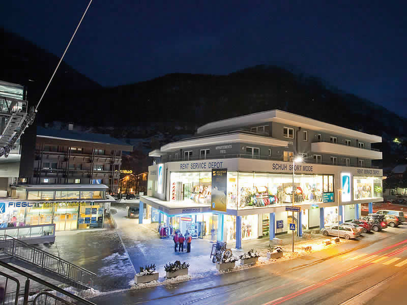 Magasin de location de ski Sporthütte Fiegl à Dorfstrasse 119, Sölden