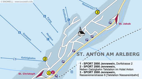 Plan St. Anton am Arlberg