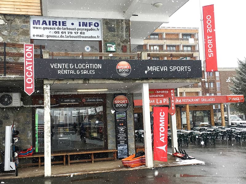 Magasin de location de ski Maeva Sports à Galerie des genévriers - versant Agudes, Les Agudes