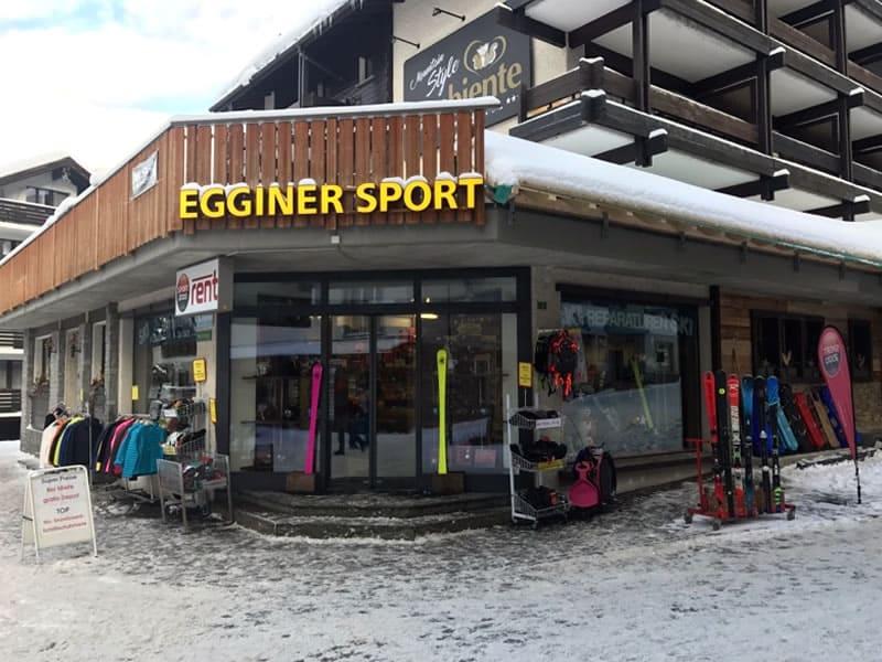 Magasin de location de ski Egginer Sport à Gletscherstrasse 3, Saas-Fee
