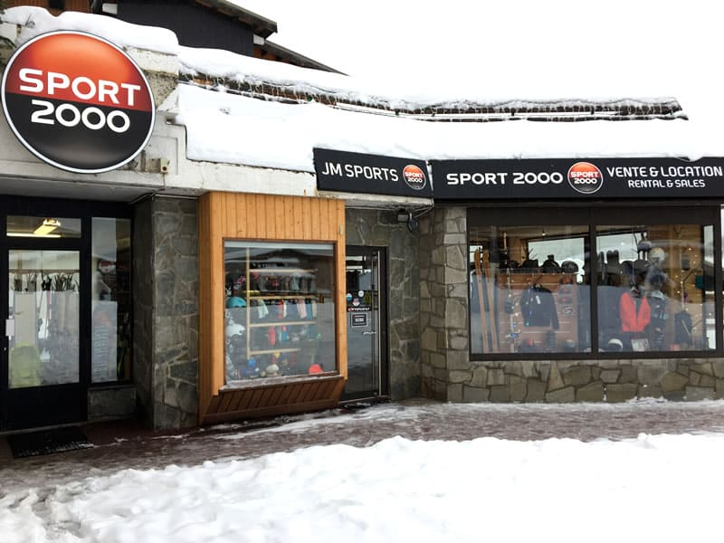 Magasin de location de ski JM SPORTS, Grande place - BP 31 à Les Deux Alpes 1800