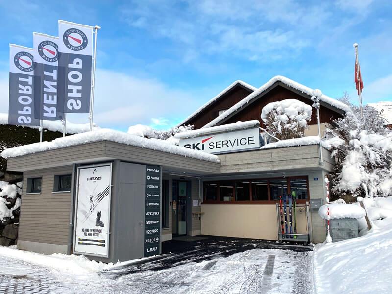 Magasin de location de ski Skiservice Center à Hauptstrasse 15 (Ortsgrenze Wildhaus), Unterwasser