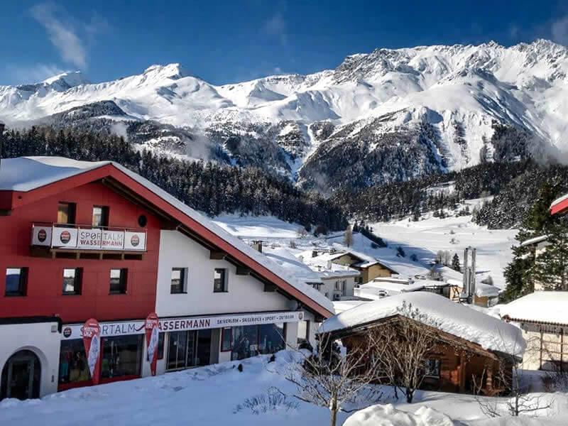Magasin de location de ski Sportalm Wassermann à HNr. 216, Nauders