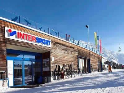 Magasin de location de ski INTERSPORT - Silvretta Montafon, Schruns à Hochjoch/Zamangbahn Bergstation