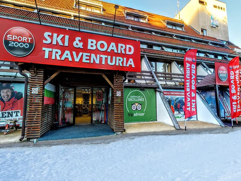 Magasin de location de ski Ski & Board Traventuria - Ski Borovets à Hotel Ela, Borovets