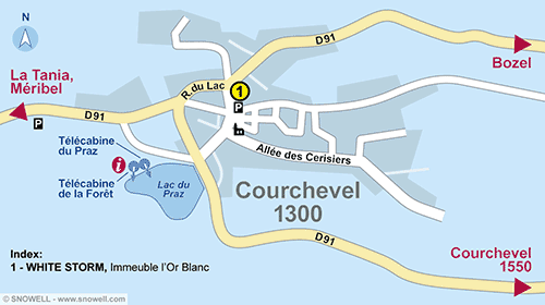 Plan Courchevel 1300