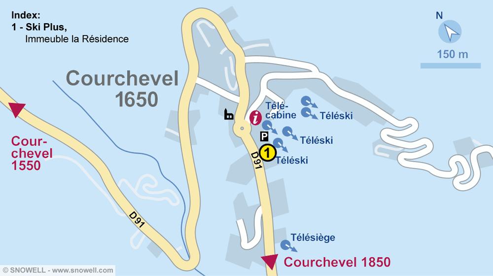 Magasin de location de ski SKI PLUS, Courchevel 1650 à Immeuble la Résidence