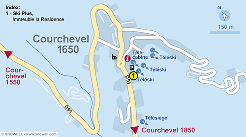 Plan Courchevel 1650