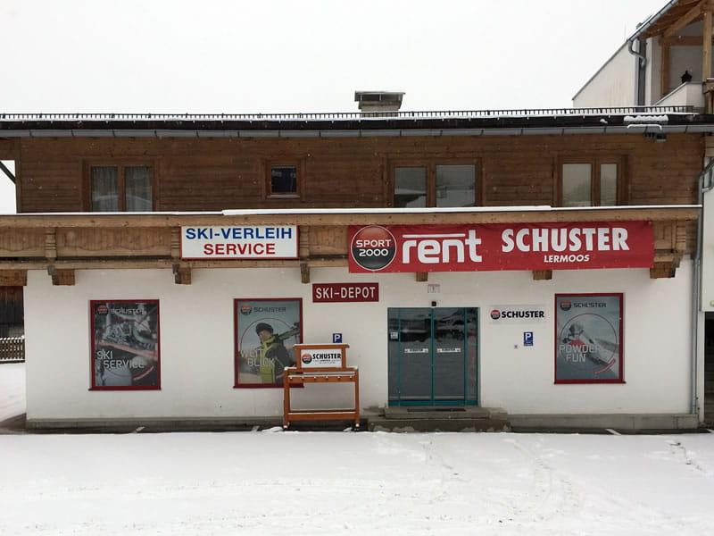 Magasin de location de ski SPORT 2000 Schuster à Juch 1 [Parkplatz Grubiggondelbahn], Lermoos