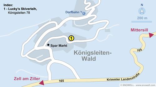 Plan Königsleiten-Wald