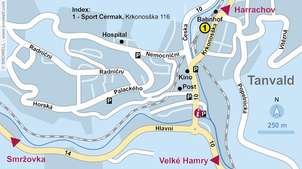 Magasin de location de ski Sport Cermak, Tanvald à Krkonosska 116