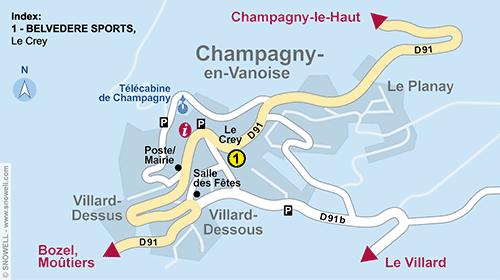 Plan Champagny en Vanoise