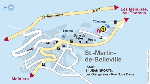 Location ski saint martin de belleville snowell for Plan de belle villa