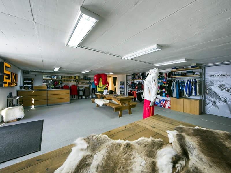 Magasin de location de ski Ski Service - Les Ruinettes, Les Ruinettes 2200 m [mountain shop] à Verbier