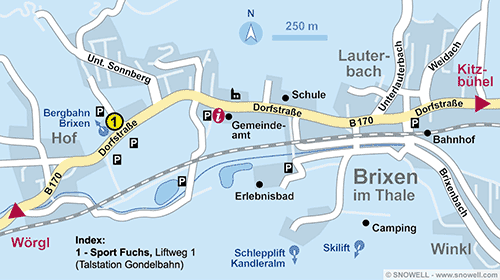 Plan Brixen im Thale