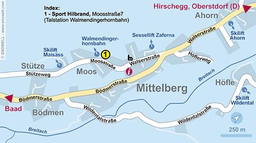 Plan Kleinwalsertal - Mittelberg