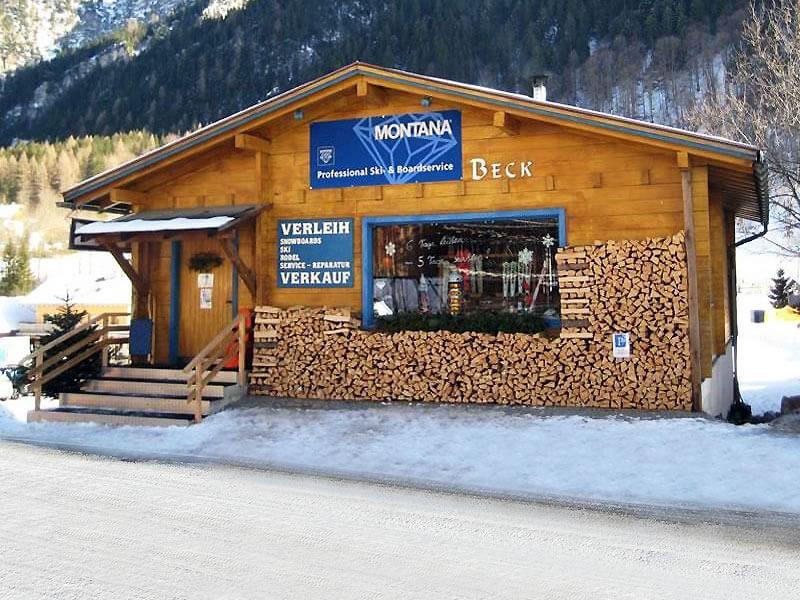 Magasin de location de ski Skiverleih Beck à Mühledörfle 85, Brand