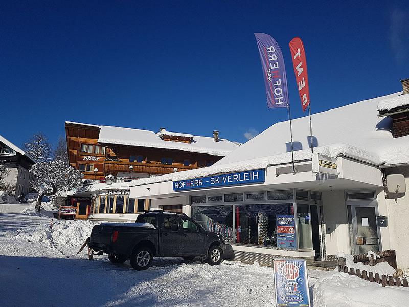 Magasin de location de ski Hofherr Sport à Oberdorf 9 [Hotel Tyrol], Lermoos