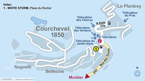 Plan Courchevel 1850