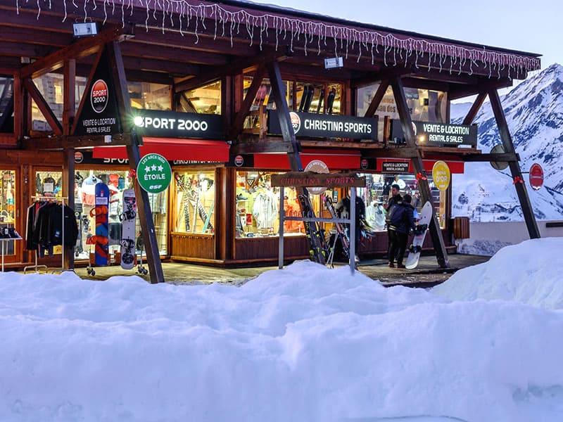 Magasin de location de ski CHRISTINA SPORTS, Place du soleil - Funiculaire Arc-en-ciel à Les Arcs 1600
