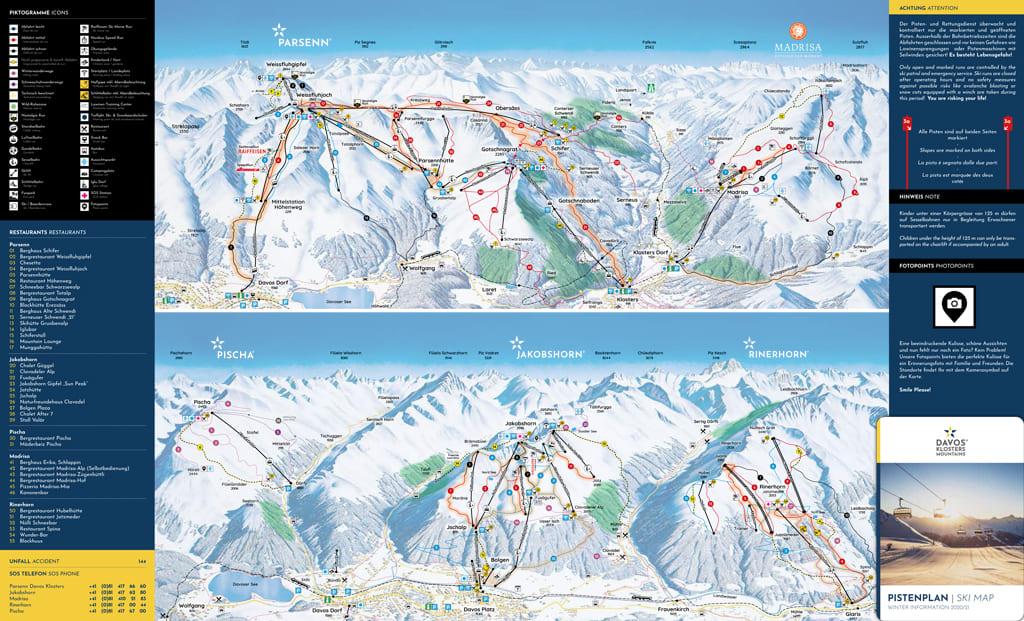 Skimap Davos-Platz