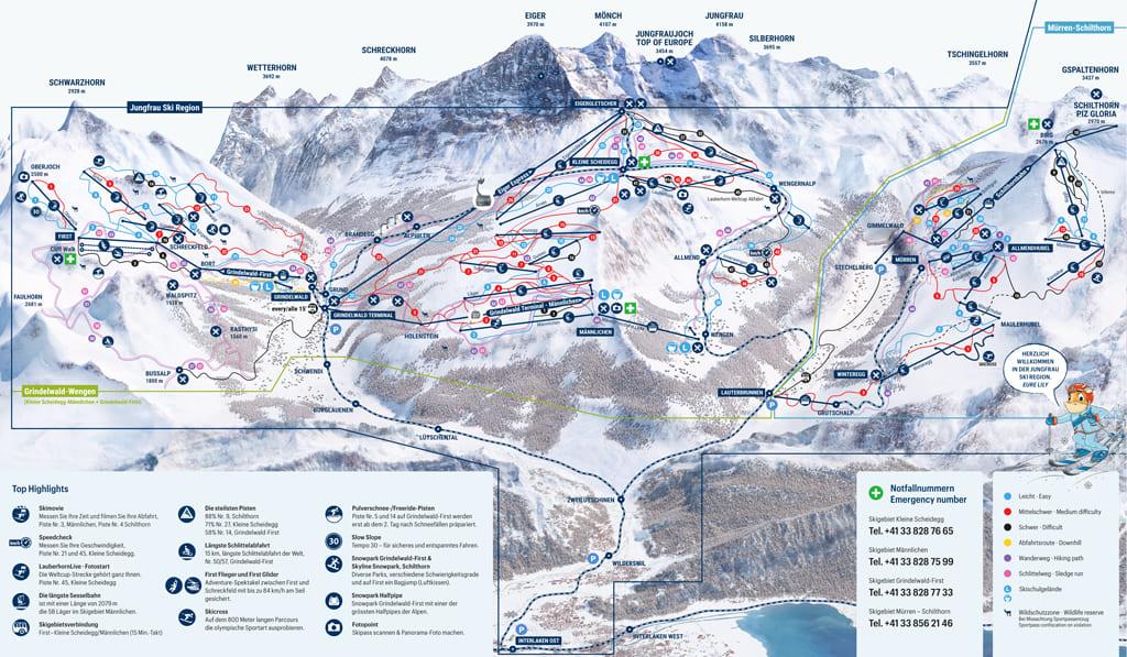Skimap Grindelwald