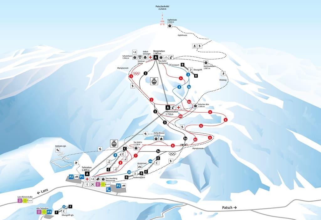 Skimap Innsbruck - Igls