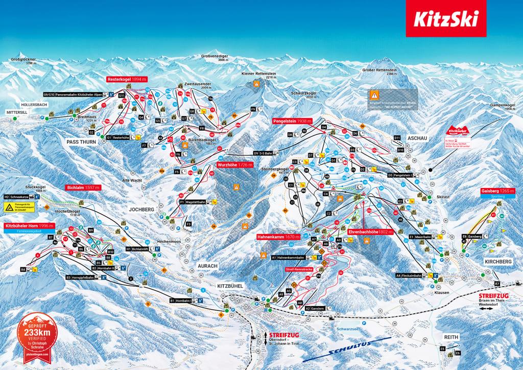 Skimap Kitzbühel
