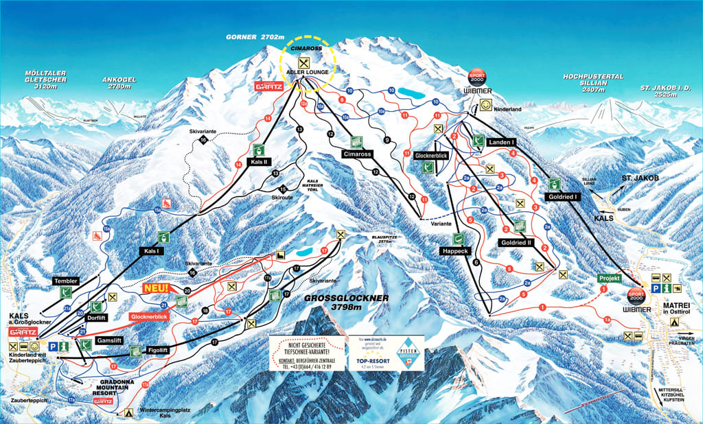 Skimap Matrei in Osttirol