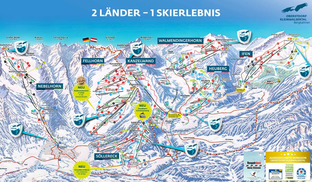 Skimap Oberstdorf