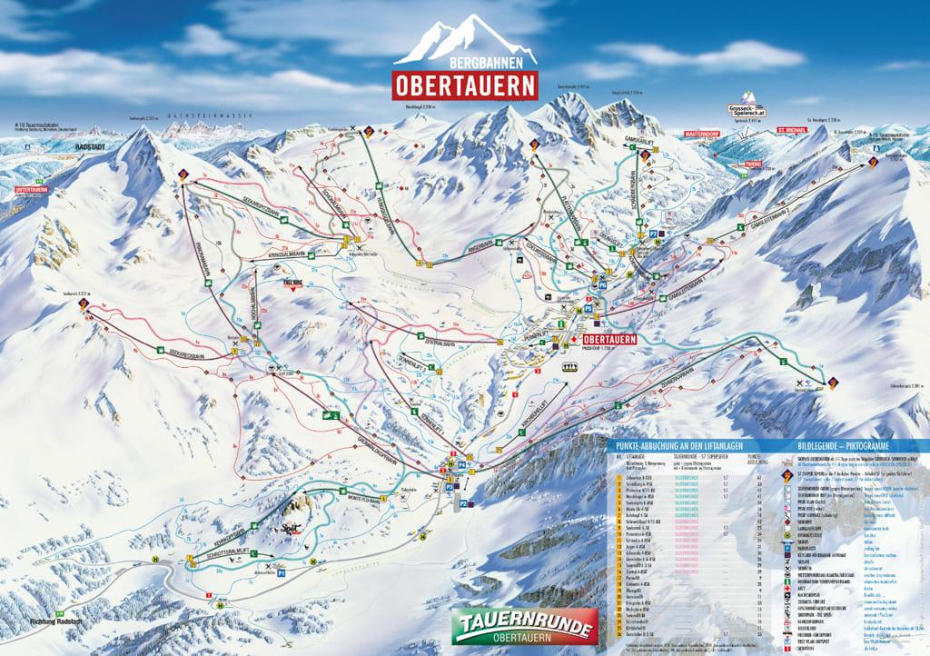 Skimap Obertauern