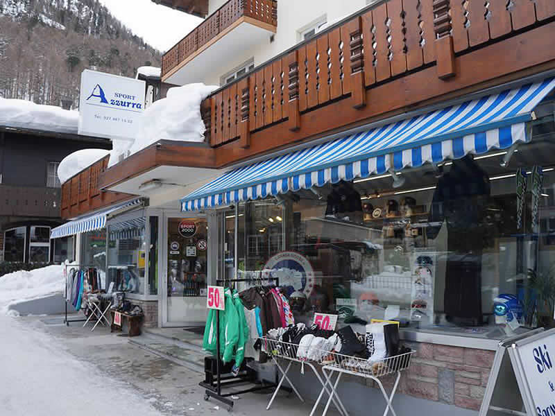 Magasin de location de ski SPORT 2000 Azzurra Sport à Riedstrasse 10, Zermatt