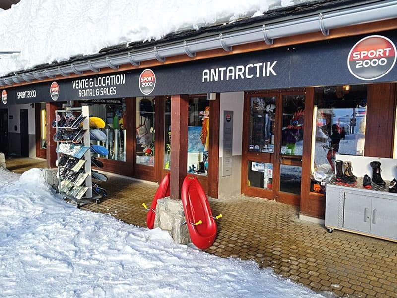 Magasin de location de ski ANTARCTIK, Rond Point Des Pistes à Tignes Val Claret