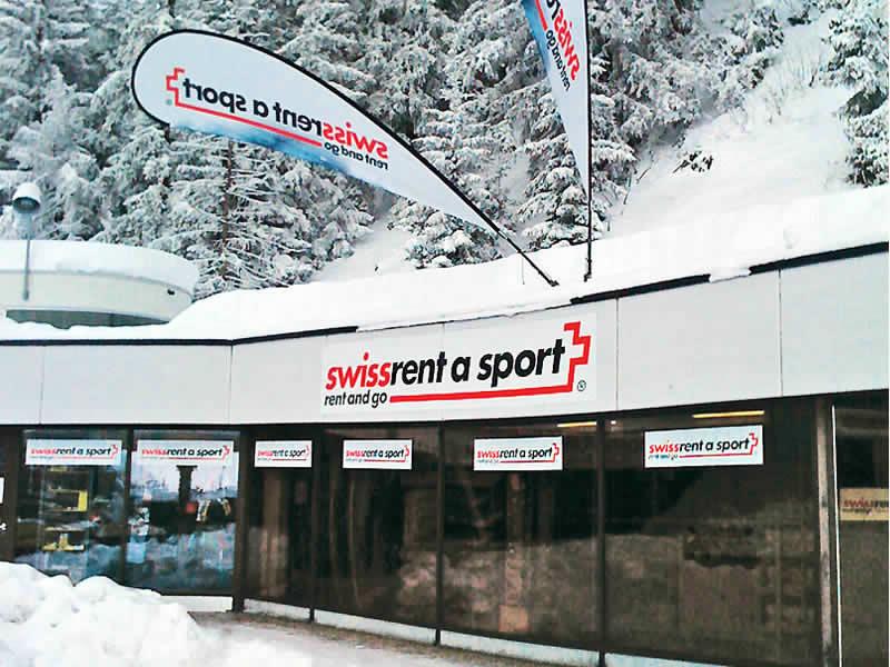 Magasin de location de ski swissrent Crans-Montana, Route des Barzettes 1, Départ Les Violettes à Crans Montana