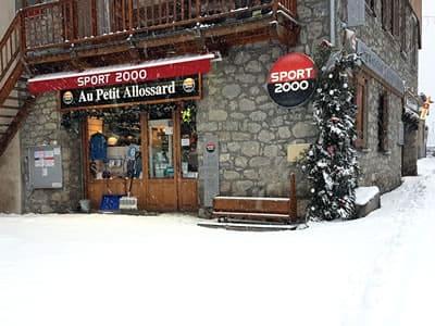 Magasin de location de ski Au Petit Allossard, Allos à Rue du Pré de Foire