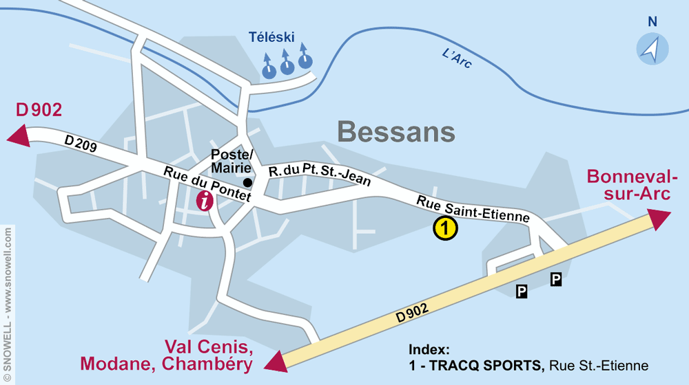 Magasin de location de ski TRACQ SPORTS, Bessans à Rue Saint Etienne