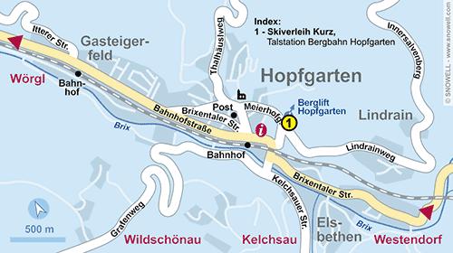 Plan Hopfgarten im Brixental