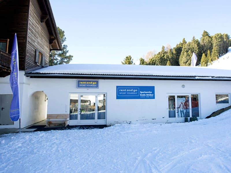 Magasin de location de ski Sportservice Erwin Stricker Skihütte à Talstation Gondelbahn Pfannspitz, Brixen