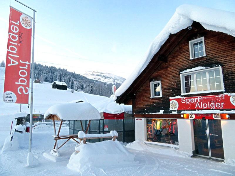 Magasin de location de ski Sport Karl Alpiger à Talstation Sesselbahn Thur, Wildhaus