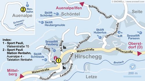 Plan Kleinwalsertal - Hirschegg